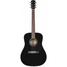 FENDER CD-60 DREADNOUGHT PACK, BLACK - акустическая гитара ( с комплектующими)