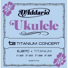D'ADDARIO EJ87C - струны для укулеле концерт