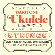 D'ADDARIO J68 - струны для укулеле баритон