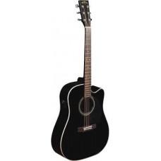 SIGMA DMC-1STE BK - гитара электроакустическая