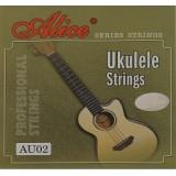 Alice AU02 - комплект струн для укулеле (черный нейлон)