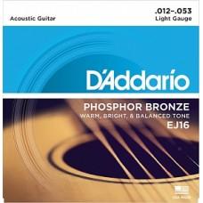 D`Addario EJ16 PHOSPHOR BRONZE - струны для акустической гитары