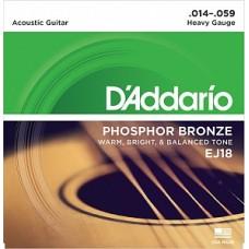 D'Addario EJ18 Phosphor Bronze - комплект струн для акустической гитары