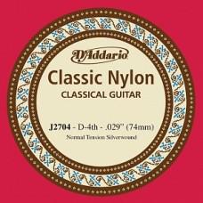D'Addario J2704 Classical - отдельная 4-ая струна (нейлон)