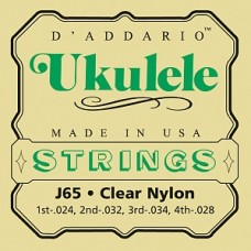 D'Addario J65 - комплект струн для укулеле сопрано