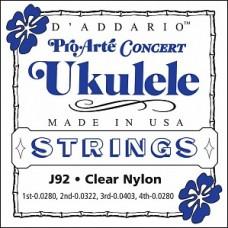 D'Addario J92 Pro-Arte - комплект струн для укулеле концерт