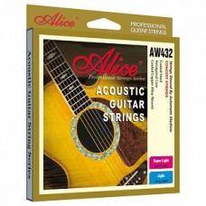 Alice AW432-SL - комплект струн для акустической гитары