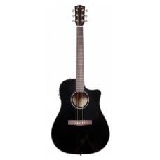 FENDER CD-60CE DREADNOUGHT BLACK - электроакустическая гитара