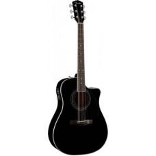 FENDER CD-140SCE DREADNOUGHT BLACK - электроакустическая гитара