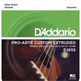 D'Addario EJ65S Pro-Arte Custom Extruded - комплект струн для укулеле сопрано