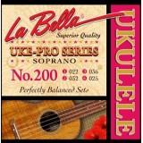 La Bella 200 Uke-Pro - комплект струн для укулеле сопрано